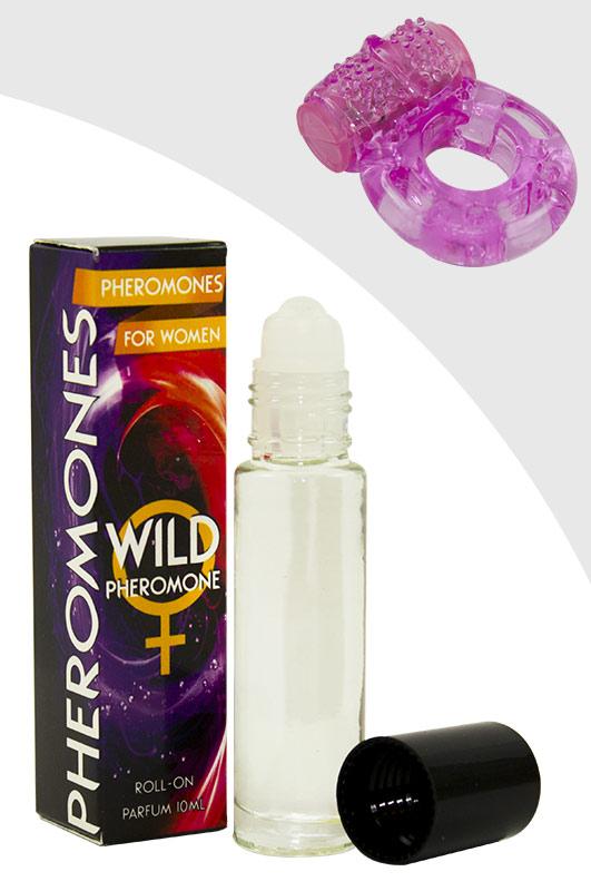 Luxusní parfém s feromony pro ženy – WILD PHEROMONE WOMAN + vibrační kroužek ()