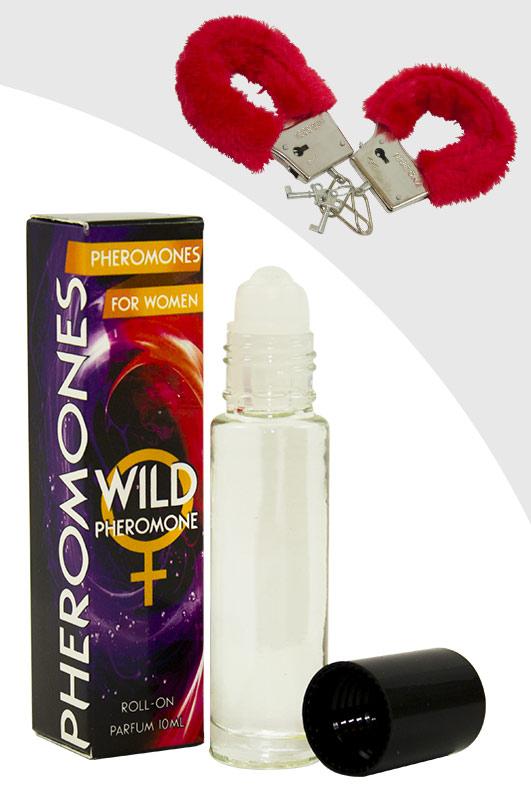 Luxusní parfém s feromony pro ženy – WILD PHEROMONE WOMAN + pouta ()