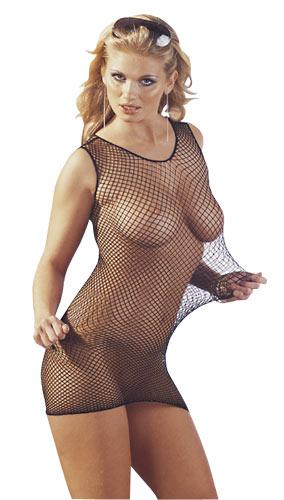 Šaty černé síťované LUCY S/M