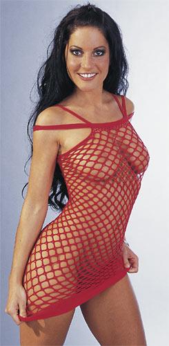 Šaty síťované červené LAURA