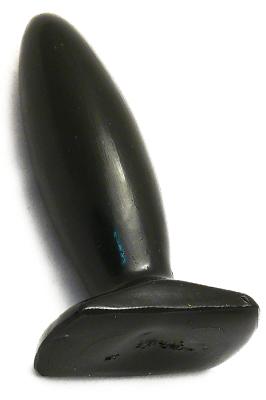 Anální kolíček gelový - černý