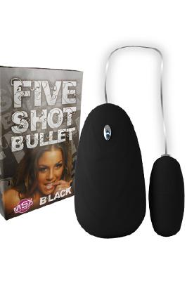 Five Shot vibrační vajíčko - černé