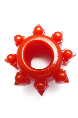 Strečový kroužek červený