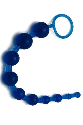 Gelové korále - blue
